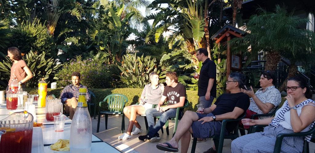 week-end malaga durant l'apéro avec l'équipe